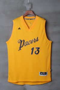 2017 NBA Indlana Pacers 13 Paul George yellow kids jerseys