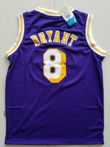 2017 NBA Los Angeles Lakers 8 Kobe Bryant purple kids jerseys