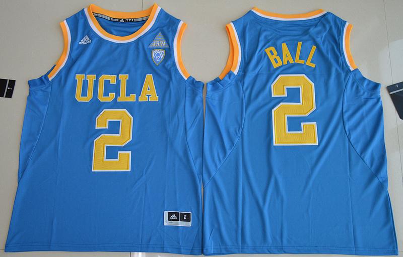 2017 NBA NCAA UCLA Bruins 2 Lonzo Ball Blue College Basketball Authentic Jersey
