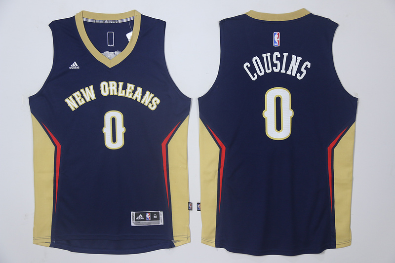 2017 NBA New Orleans Pelicans 0 Cousins blue Jersey