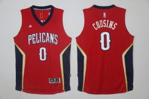 2017 NBA New Orleans Pelicans 0 Cousins red Jersey