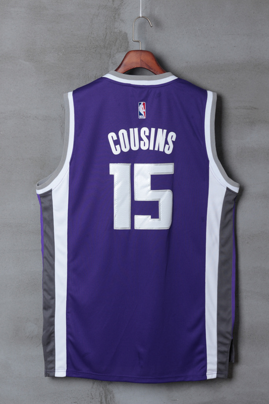 2017 NBA Sacramento Kings 15 DeMarcus Cousins purple Jerseys