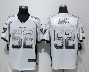 2017 NEW Nike Dallas Raiders 52 Mack Drift Fashion White Elite Jerseys