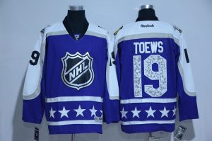 2017 NHL Chicago Blackhawks 19 Toews blue All Star jerseys