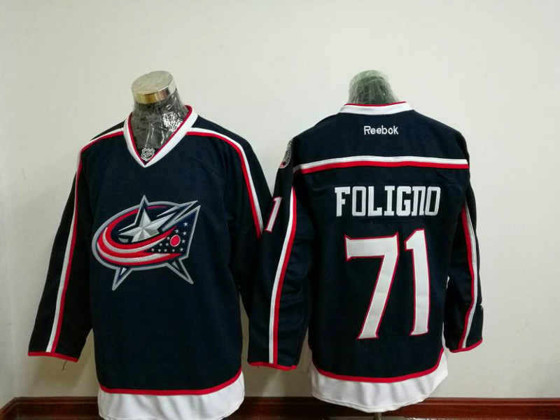 2017 NHL Columbus Blue Jackets 71 Nick Foligno Blue Jerseys