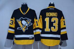 2017 NHL Pittsburgh Penguins 13 Bonino Yellow Jerseys
