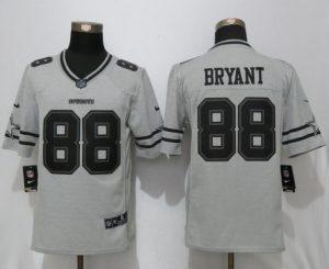 2017 Nike Dallas Cowboys 88 Bryant Nike Gridiron Gray II Limited Jersey