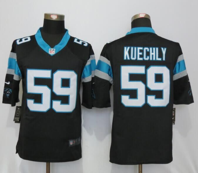 Carolina Panthers 59 Kuechly Black Nike Limited Jerseys