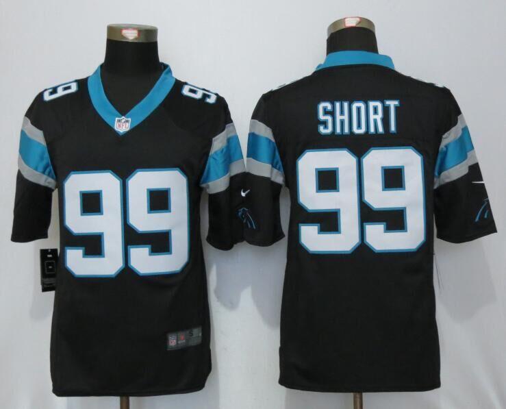 Carolina Panthers 99 Short Black Nike Limited Jerseys