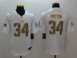 Chicago Bears 34 Payton White Nike Salute TO Service Jerseys
