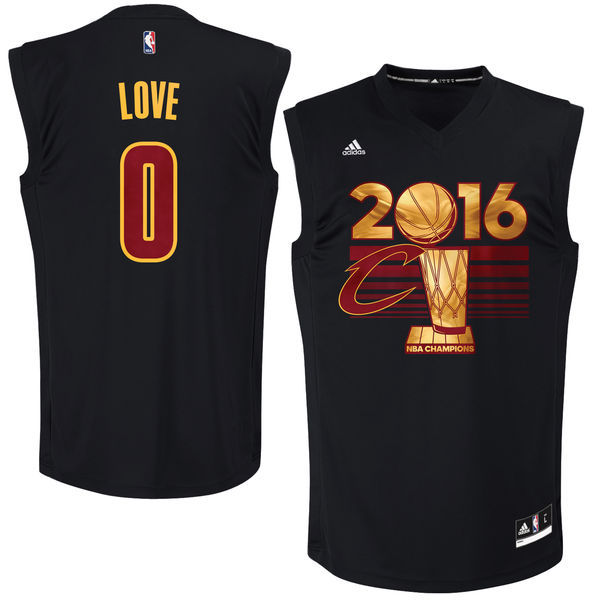 Cleveland Cavaliers 0 Kevin Love adidas 2016 NBA Finals Champions Black Jersey (1)