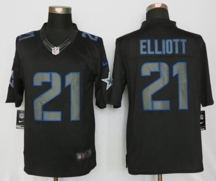 Dallas cowboys 21 Elliott Impact Limited New Nike Black Jerseys
