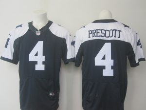 Dallas cowboys 4 Prescott Blue Thanksgiving Nike Elite Jersey