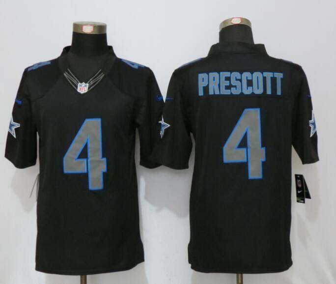 Dallas cowboys 4 Prescott Impact Limited New Nike Black Jerseys