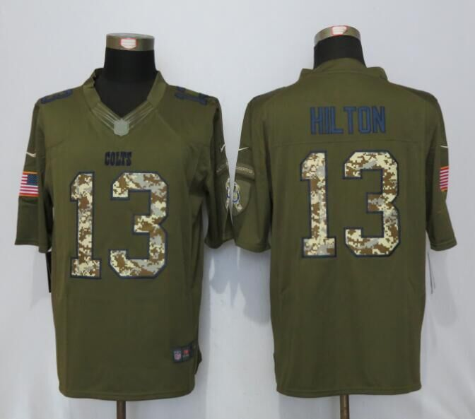Indianapolis Colts 13 Hilton Green Salute To Service New Nike Limited Jersey