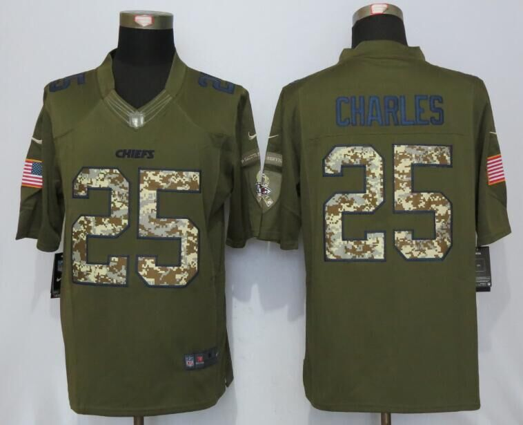 Kansas City Chiefs 25 Charles Salute To Service New Nike Limited Jersey