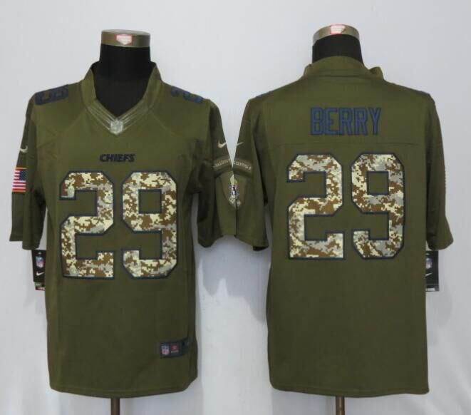 Kansas City Chiefs 29 Berry Salute To Service New Nike Limited Jersey