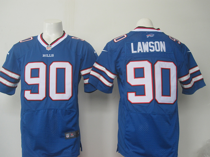Men Buffalo Bills 90 Lawson Nike blue 2016 Draft Pick Elite Jersey