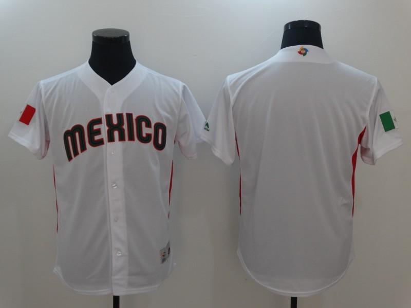 Men Mexico Baseball Majestic White 2017 World Baseball Classic Authentic Team Jersey