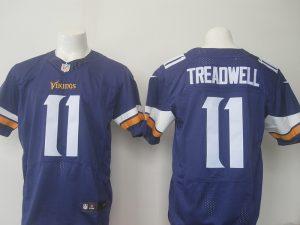 Men Minnesota Vikings 11 Treadwell Nike purple 2016 Draft Pick Elite Jersey