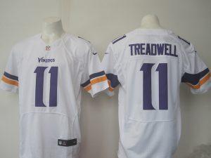 Men Minnesota Vikings 11 Treadwell Nike white 2016 Draft Pick Elite Jersey