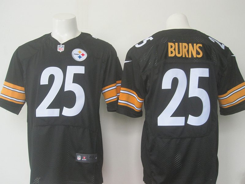 Men Pittsburgh Steelers 25 Burns Nike black 2016 Draft Pick Elite Jersey