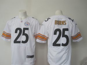 Men Pittsburgh Steelers 25 Burns Nike white 2016 Draft Pick Elite Jersey