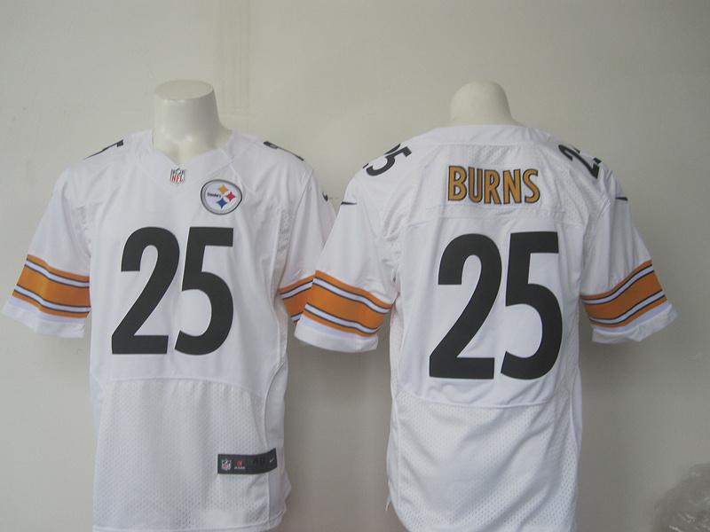 Men Pittsburgh Steelers 25 Burns Nike white 2016 Draft Pick Elite Jersey