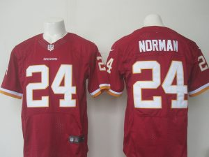 Men Washington Redskins 24 Norman Nike red 2016 Draft Pick Elite Jersey