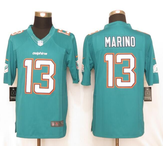 Miami Dolphins 13 Marino Green New Nike Limited Jerseys