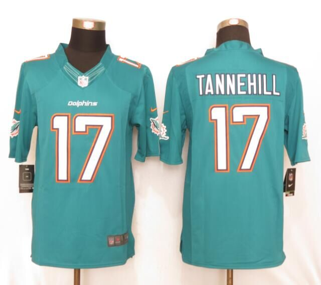 Miami Dolphins 17 Tannehill Green New Nike Limited Jerseys