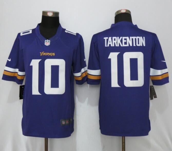 Minnesota Vikings 10 Tarkenton Purple New Nike Limited Jerseys