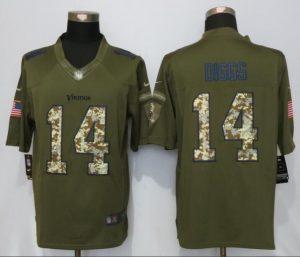Minnesota Vikings 14 Dlggs Green Salute To Service New Nike Limited Jersey