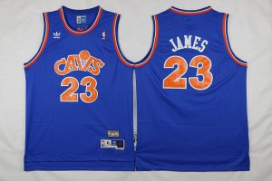 NBA Cleveland Cavaliers 23 James blue 2017 Jerseys style 2