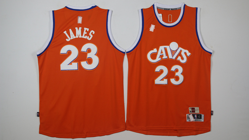 NBA Cleveland Cavaliers 23 James orange 2017 Jerseys