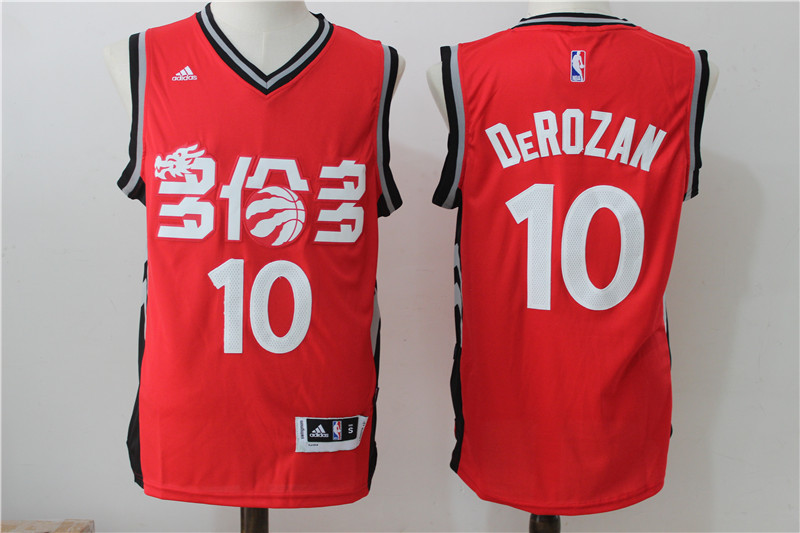 NBA Toronto Raptors 10 Derozan Red 2016 Jerseys