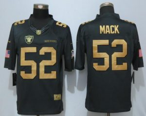 NEW Nike Okaland Raiders 52 Mack Gold Anthracite Salute To Service Limited Jersey
