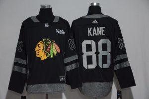 NHL Chicago Blackhawks 88 Kane Black 1917-2017 100th Anniversary Stitched Jersey