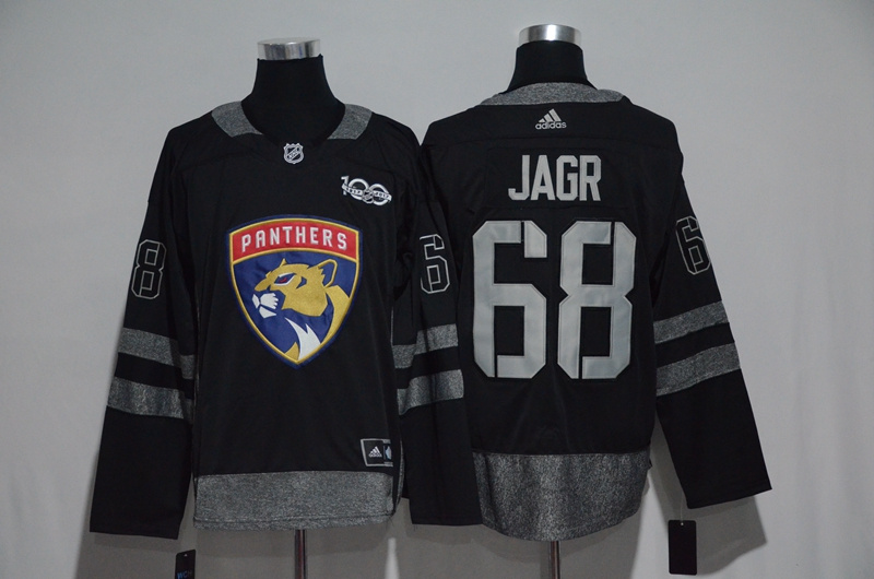 NHL Florida Panthers 68 Jarg Black 1917-2017 100th Anniversary Stitched Jersey