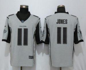 New Nike Atlanta Falcons 11 Jones Nike Gridiron Gray II Limited Jersey