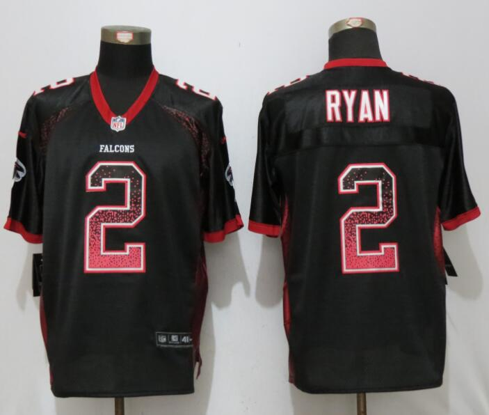 New Nike Atlanta Falcons 2 Ryan Drift Fashion Black Elite Jerseys