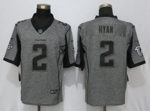 New Nike Atlanta Falcons 2 Ryan Gray Men's Stitched Gridiron Gray Limited Jersey