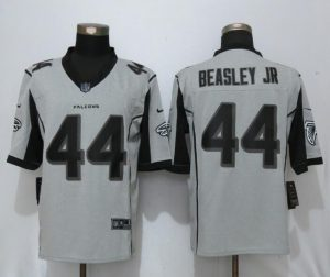 New Nike Atlanta Falcons 44 Beasley jr Nike Gridiron Gray II Limited Jersey