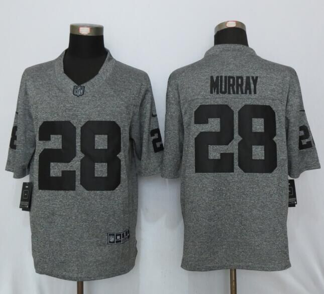 Oakland Raiders 28 Murray Gray Men's Stitched Gridiron Gray New Nike Limited Jersey