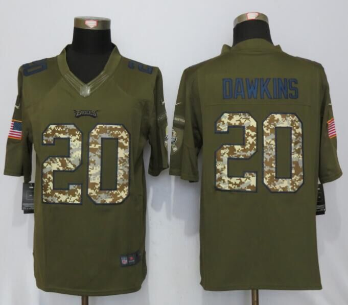 Philadelphia Eagles 20 Dawklns Green Salute To Service Nike Limited Jersey