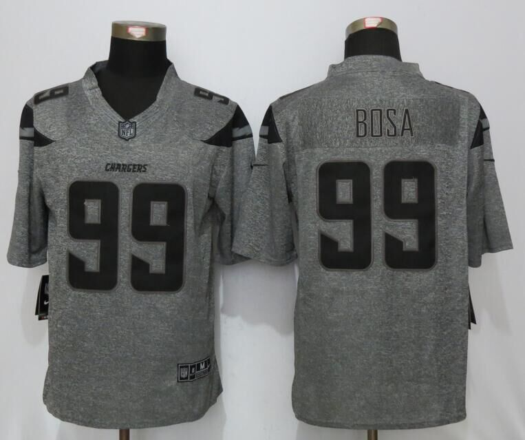 San Diego Chargers 99 Bosa Gray Men's Stitched Gridiron Gray New Nike Limited Jersey