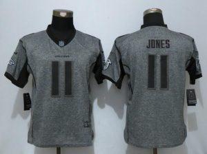 Women New Nike Atlanta Falcons 11 Jones Gray Men's Stitched Gridiron Gray Elite Jersey