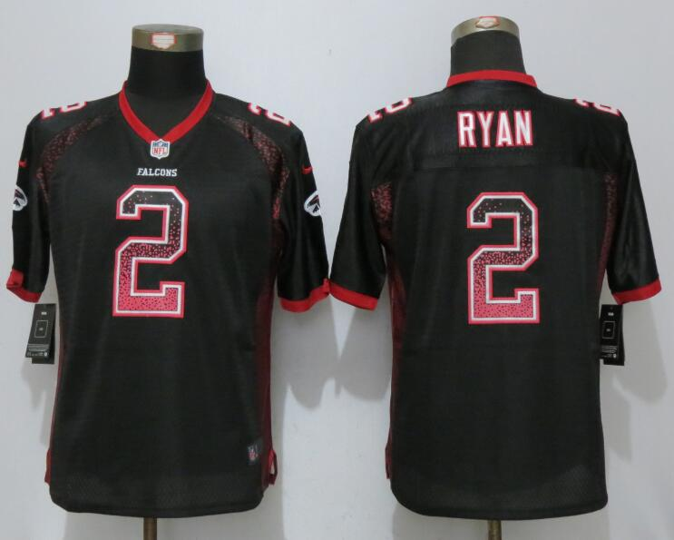Women New Nike Atlanta Falcons 2 Ryan Drift Fashion Black Elite Jerseys