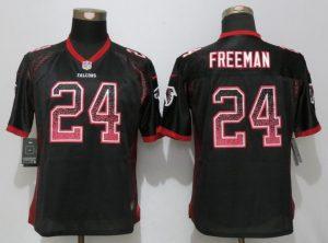 Women New Nike Atlanta Falcons 24 Freeman Drift Fashion Black Elite Jerseys
