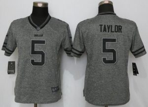 Womens Buffalo Bills 5 Taylor Gray Stitched Gridiron Gray New Nike Limited Jerseys